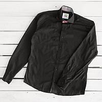 1465-4 Afish рубашка мужская черная (S-XXL, 5 ед.)