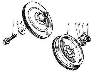 08 Маховик і шків двигуна 40141-1005-10