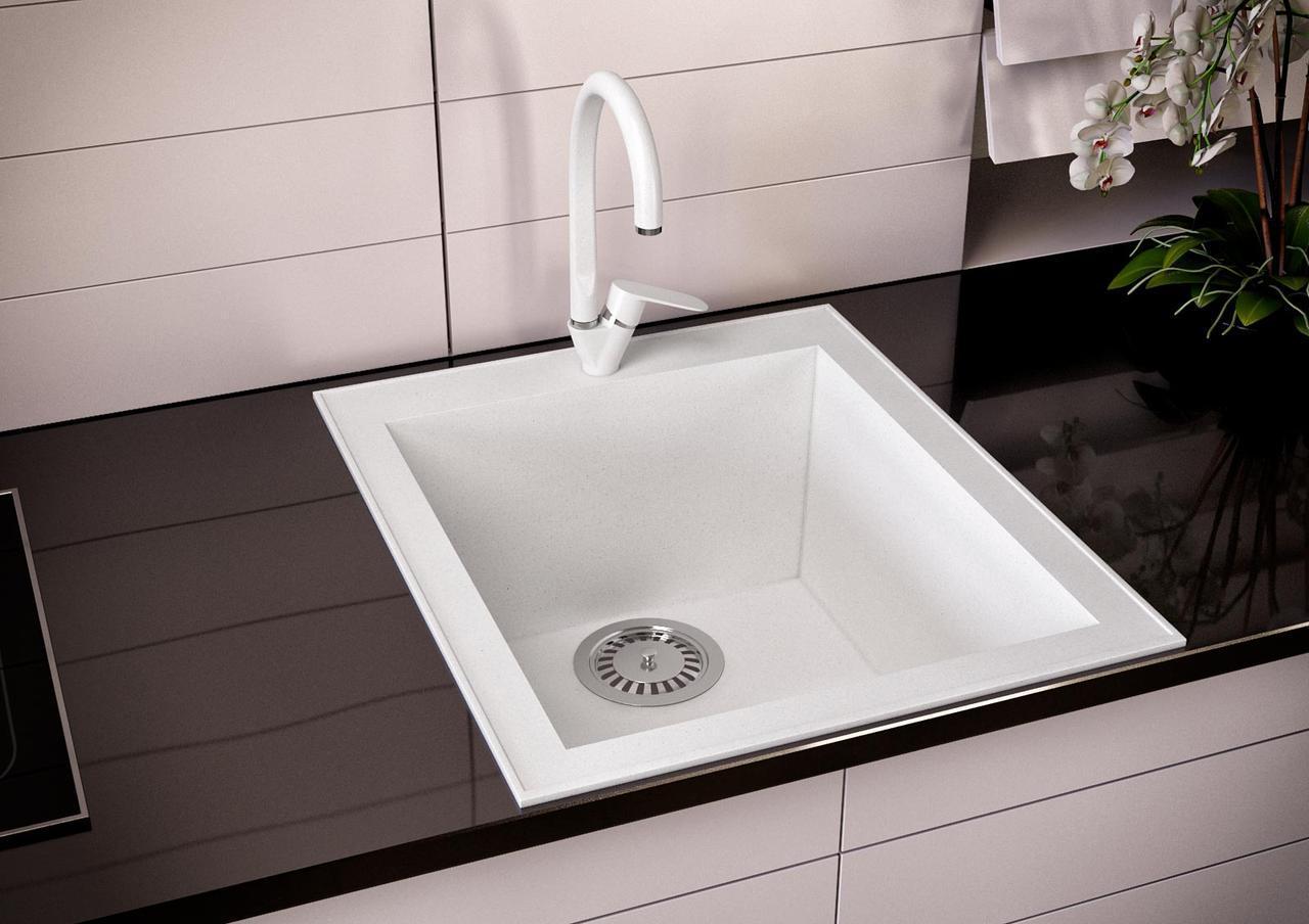 Кухонна мийка VALENTINA Gr Petra 40 білий
