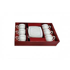 Сервиз кофейный фарфоровый 12 предметов Interos 506707 12 S