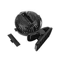 Переносной мини вентилятор на прищепке Lesko JD-199 Black от USB настольный портативный аккумуляторный, фото 3