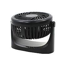 Міні вентилятор настільний Lesko JD-Q1 Black USB портативний потужний 3 швидкості на акумуляторі, фото 2