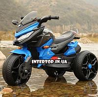 Детский трехколесный электро мотоцикл на аккумуляторе BMW T 7231 синий трицикл для детей от 3 до 6 лет