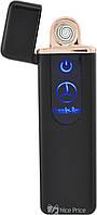 Спиральная электрическая USB зажигалка UKC 180 (Mercedes-Benz) Black, фото 1