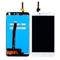 Дисплей (lcd экран) для Xiaomi Redmi 4X с белым тачскрином