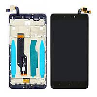 Дисплей (lcd экран) для Xiaomi Redmi Note 4X с чёрным тачскрином и корпусной рамкой