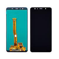 Дисплей для Samsung A750 Galaxy A7 (2018) с чёрным тачскрином, с регулируемой подсветкой