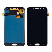 Дисплей (lcd экран) для Samsung J400 Galaxy J4 (2018) с черным тачскрином, с регулируемой подсветкой