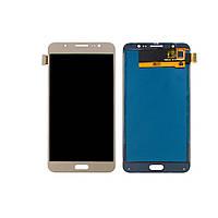 Дисплей (lcd экран) для Samsung J710 Galaxy J7 (2016) с золотистым тачскрином, с регулируемой подсветкой