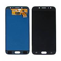 Дисплей (lcd экран) для Samsung J730 Galaxy J7 (2017) с чёрным тачскрином, с регулируемой подсветкой