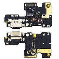 Разъём зарядки для XIAOMI Mi A3 (USB Type-C) на плате с микрофоном и компонентами