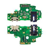 Разъём зарядки для HUAWEI Honor 9 Lite Dual Sim (LLD-L31) на плате с микрофоном и компонентами