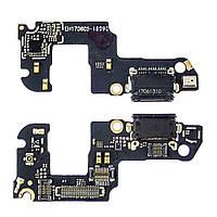 Разъём зарядки для HUAWEI Honor 9 (STF-L09, STF-L19) на плате с микрофоном и компонентами (USB Type-C)