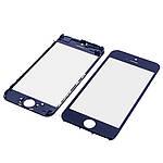 Стекло тачскрина для Apple iPhone 5C чёрное с рамкой и OCA плёнкой HC