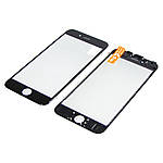 Стекло тачскрина для Apple iPhone 6s чёрное с рамкой и OCA плёнкой HC