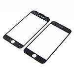 Стекло тачскрина для Apple iPhone 7 чёрное с рамкой и OCA плёнкой HC