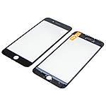 Стекло тачскрина для Apple iPhone 8 Plus чёрное с рамкой и OCA плёнкой HC