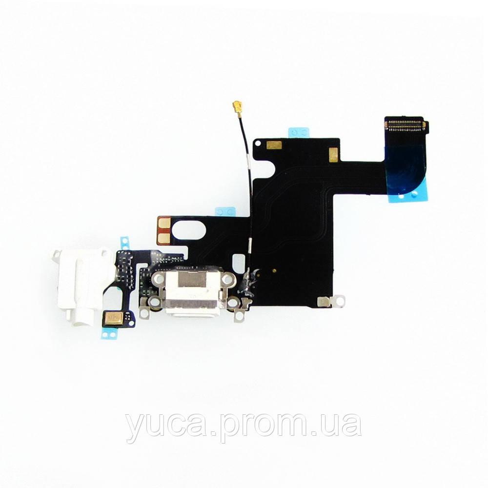 Шлейф для APPLE iPhone 6 з білим роз'ємом живлення, гарнітури, з мікрофоном