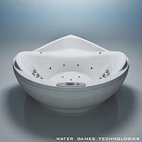 Угловая акриловая ванна WGT Illusion 1800×1800×800 мм