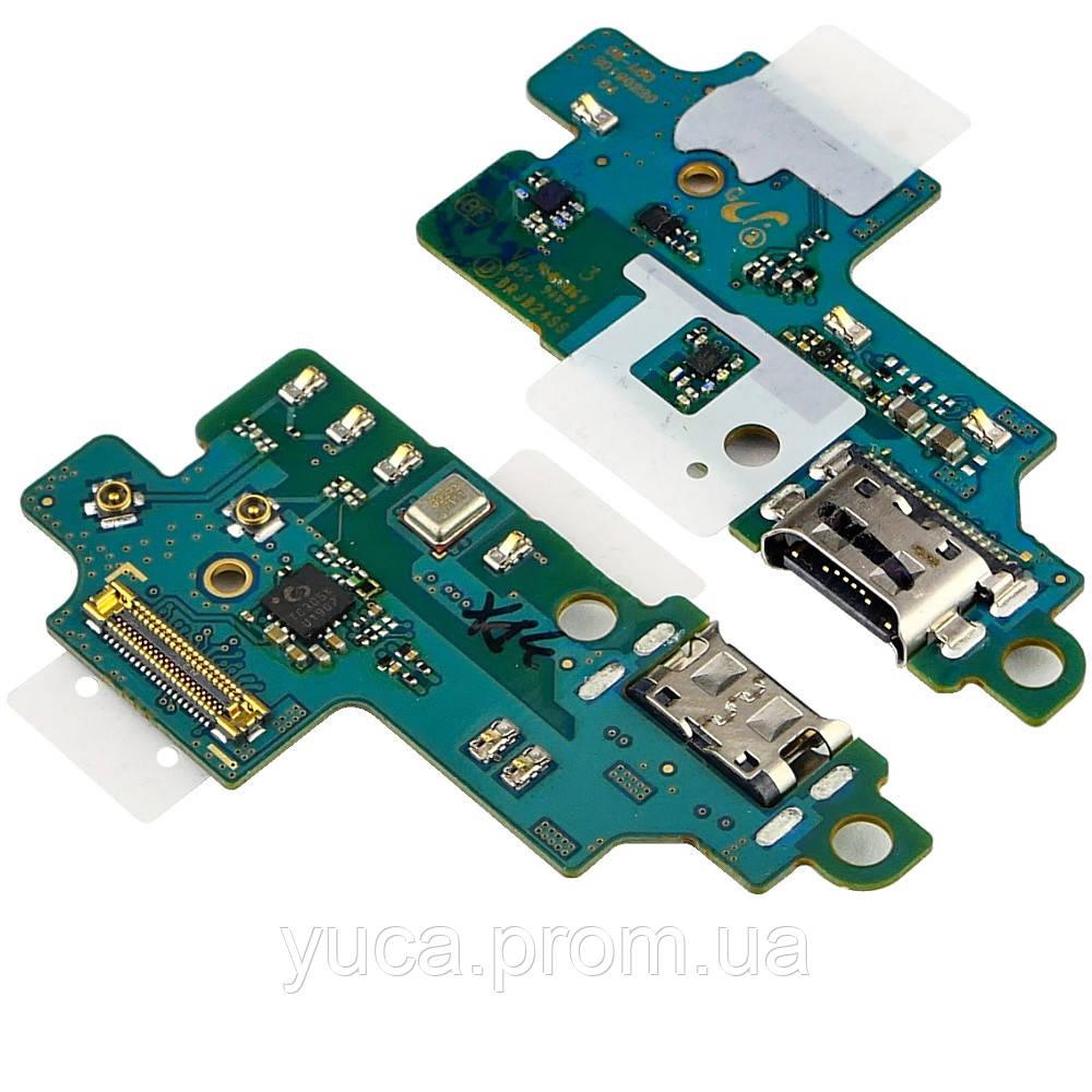 Разъём зарядки для Samsung A605 Galaxy A6 Plus (2018) на плате с микросхемой, микрофоном и компонентами