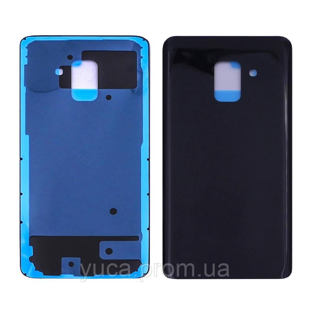 Заднее стекло корпуса для Samsung A530F Galaxy A8 (2018) чёрное