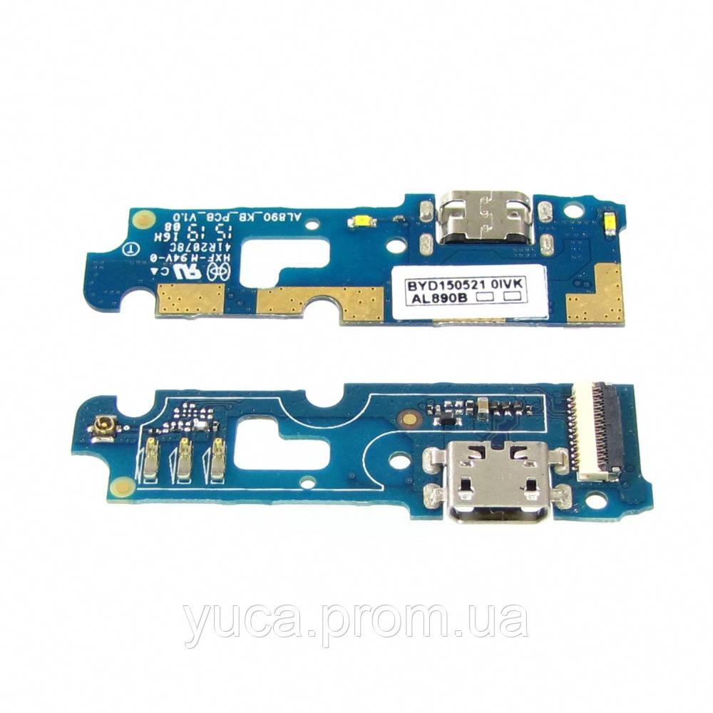 Разъём зарядки для Lenovo P70 на плате с микрофоном и компонетами