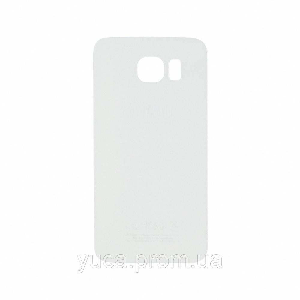 Заднее стекло корпуса для Samsung G920F Galaxy S6 белое