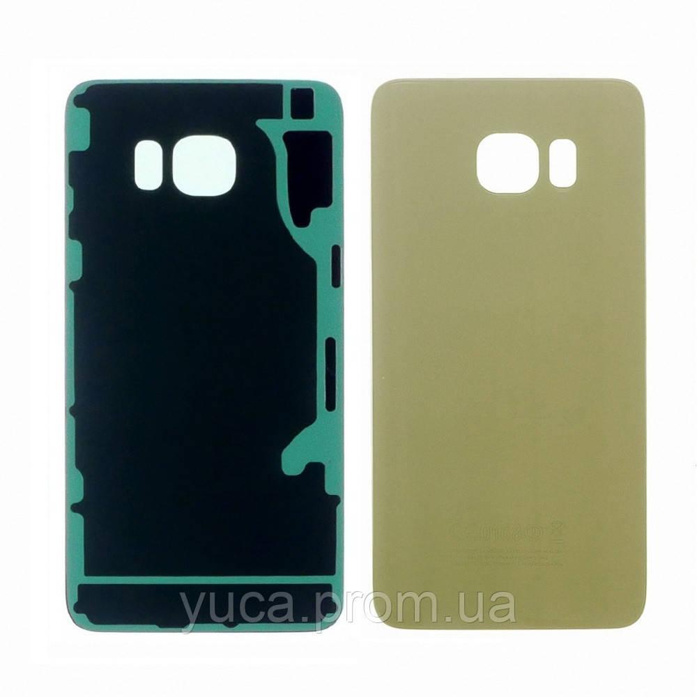 Заднее стекло корпуса для Samsung G928 Galaxy S6 Edge Plus золотистое