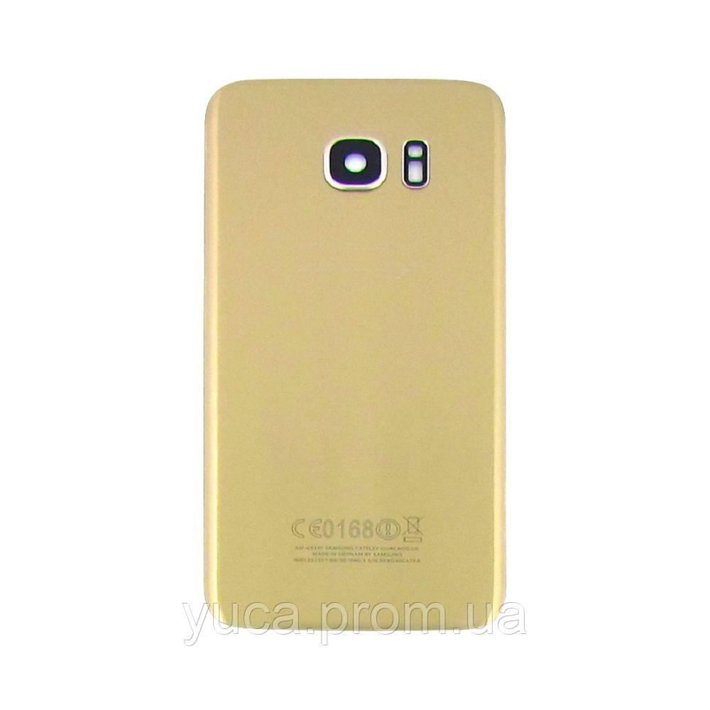 Заднее стекло корпуса для Samsung G935 Galaxy S7 Edge золотистое