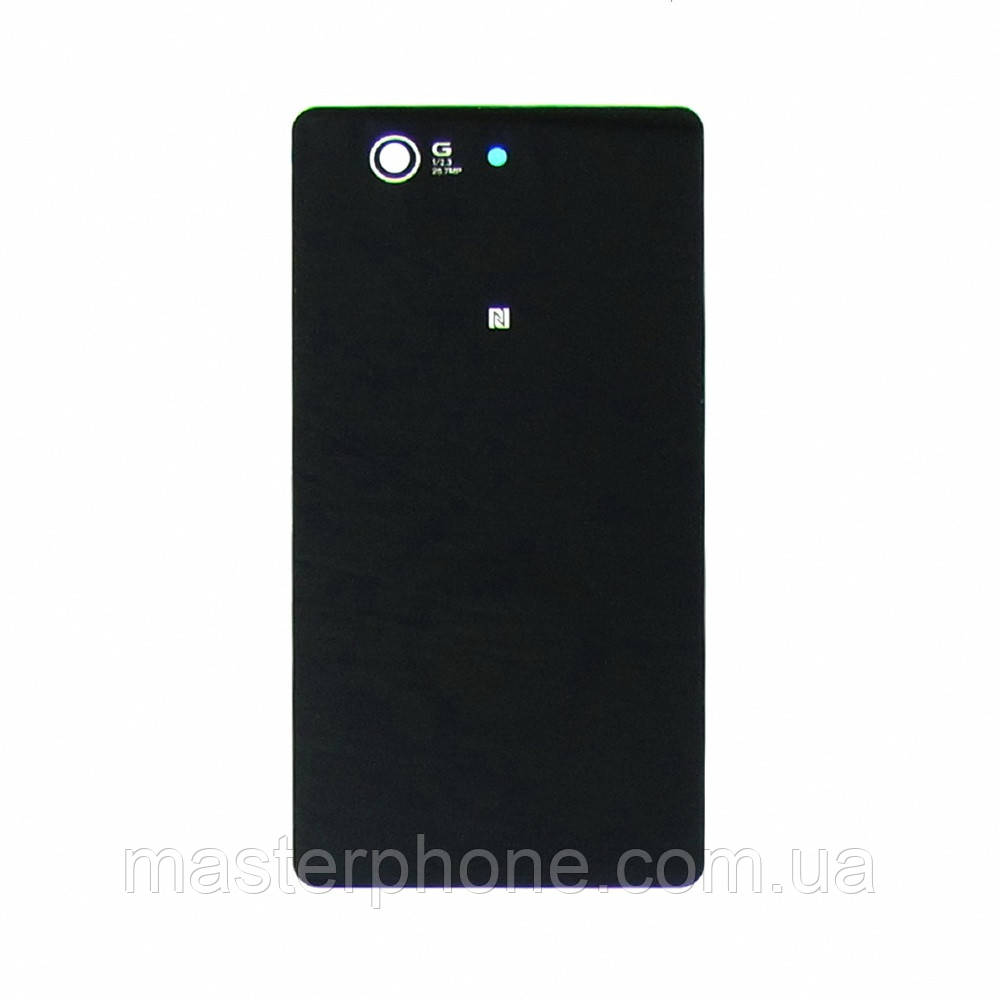 Заднее стекло корпуса для Sony D5803 Xperia Z3 Compact/ D5833  Xperia Z3 Compact Mini чёрное