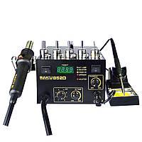 Паяльная станция BAKU BK852D компрессорная, фен с цифровой индикацией, паяльник, аналоговая регулировка t