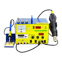 Паяльная станция BAKU BK909S фен, паяльник, БП 15V 1A, тестер, стрелочная и цифровая индикация, RF индикатор, MP3/FM плеер