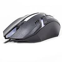 Оптическая мышь JEQANG M-318 Black 1200 DPI мышка компьютерная игровая для ПК ноутбука