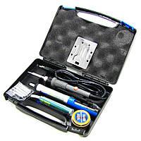 Паяльный набор в кейсе WEP 947-II (паяльник 60W, рег. t 200-450 гр C, жала 900M 6шт, инструменты и расходники)