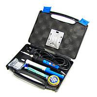 Паяльный набор в кейсе WEP 947-III (паяльник с выключателем 60W, рег. t 200-450 гр C, жала 900M 6шт, инструменты и расходники)