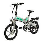 """Электровелосипед ZM TigerVolt 20, серый, колеса 20"""", 7-скоростной, моторколесо 350W, аккумулятор 36V 7,5Ah (270Wh)"""