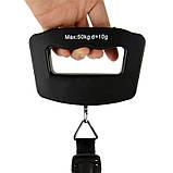 Весы WeiHeng WH-A09 ручные электронные до 50 кг для сумки дорожные цифровые, фото 5