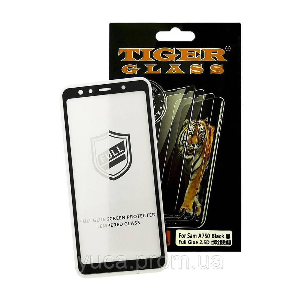 Захисне скло TigerGlass для SAMSUNG A750 Galaxy A7 (2018) Full Glue (0.3 мм, 2.5 D, чорне)