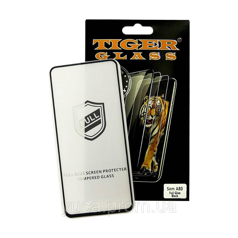 Защитное стекло TigerGlass для Samsung A805  A80 (2019) Full Glue (0.3 мм, 2.5D, чёрное)
