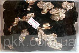 Резинка для волос чёрная бархатная с камнями RК-18-24G