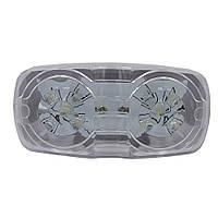 Фонарь габаритний LED білий FG-201 прямокутний 0.55W, 12V, 10 діодів (BD-010W05AYA-Z)