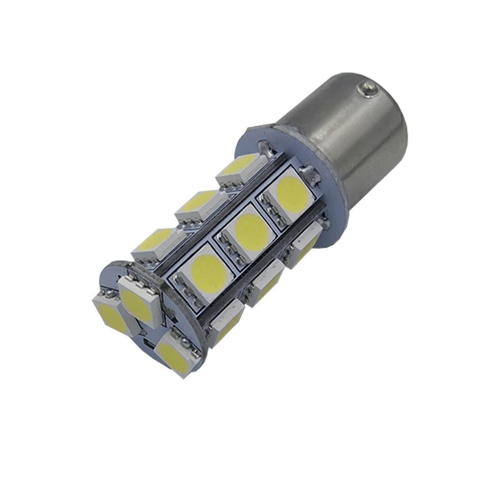 Лампа LED автолампа цоколь одноконтактний BA15S, 1.66W, 12V, 18 діодів (T20-B15-018W5050 BA15S Bass)