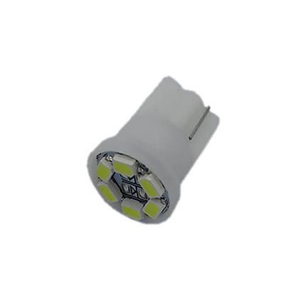 Лампа LED автолампа безцокольна T10, 0.35W, 12V, 6 діодів (T10-WG-006W3020), фото 2