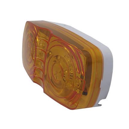Фонарь габаритний LED жовтий FG-202 прямокутний 0.55W, 12V, 10 діодів (BD-010Y05AYA-Y), фото 2