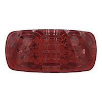 Фонарь габаритний LED червоний FG-203 прямокутний 0.55W, 12V, 10 діодів (BD-010R05AYA-R)