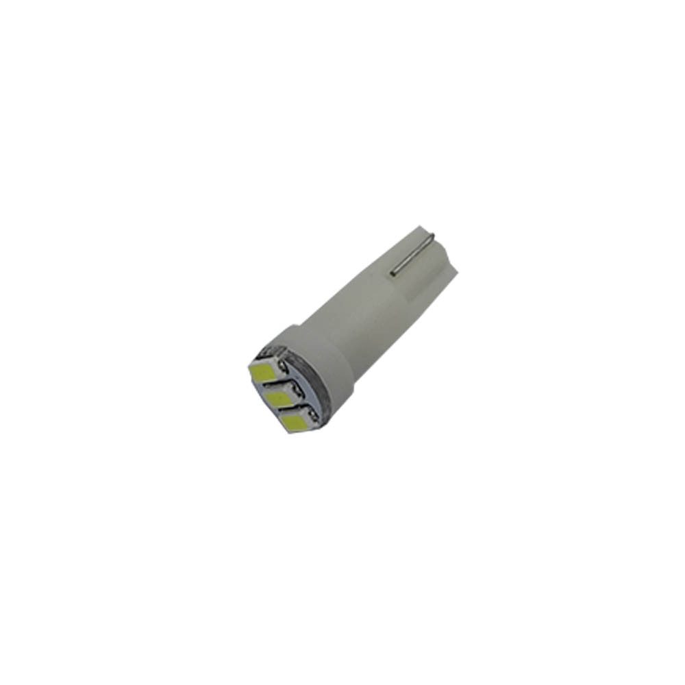 Лампа LED автолампа безцокольна T5, 0.17W, 12V (T5-WG-003W3014)