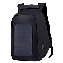 Спортивный рюкзак Eceen ECE-681T Black USB портом солнечной панелью мягкий дышащий на молнии много отделений