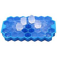 Силиконовая форма для льда CUMENSS Соты Blue емкость для замораживания воды