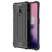 Противоударная накладка Shield для смартфона OnePlus 7 Black защитный чехол бампер от сколов повреждений