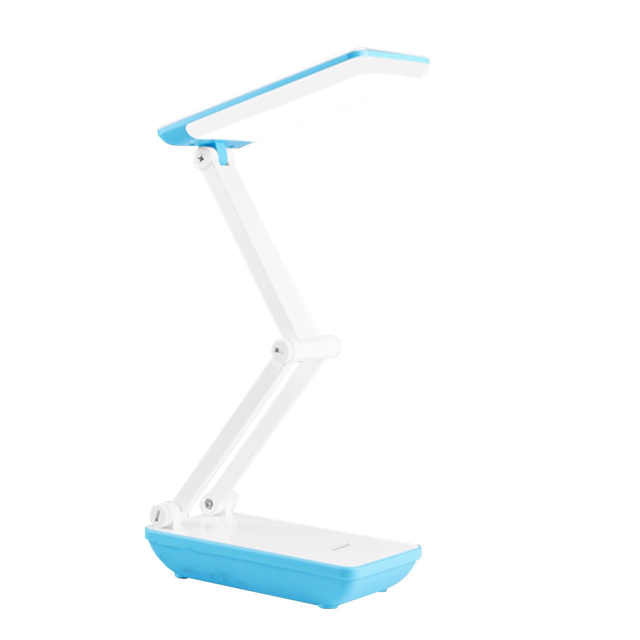 Настольная светодиодная лампа YAGE YG-5951 Blue аккумулятор 1200 мАч гибкая настольная для офиса дома